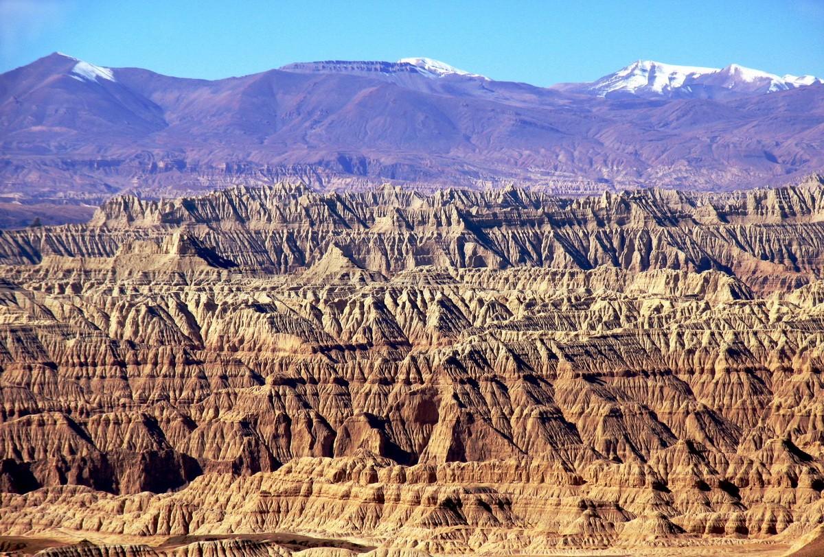 Долина Занда на закате. Тибет