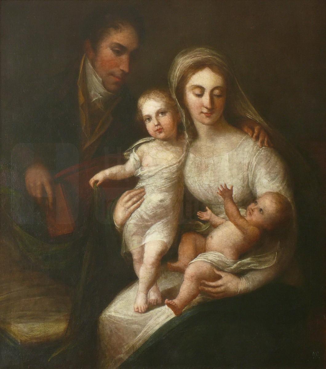 Портрет И.И. Барятинского с женой и детьми