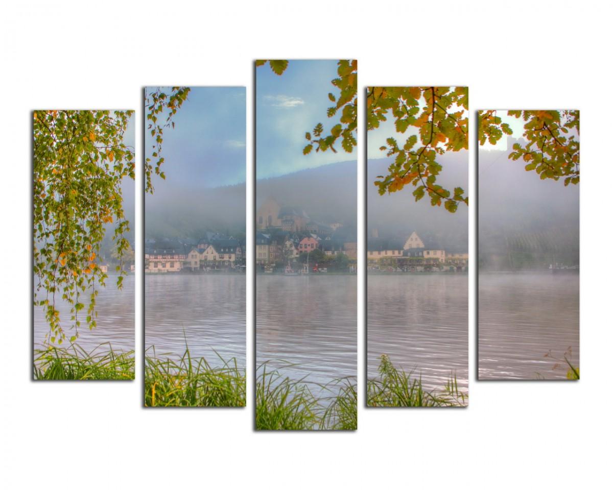 Утренний туман над озером