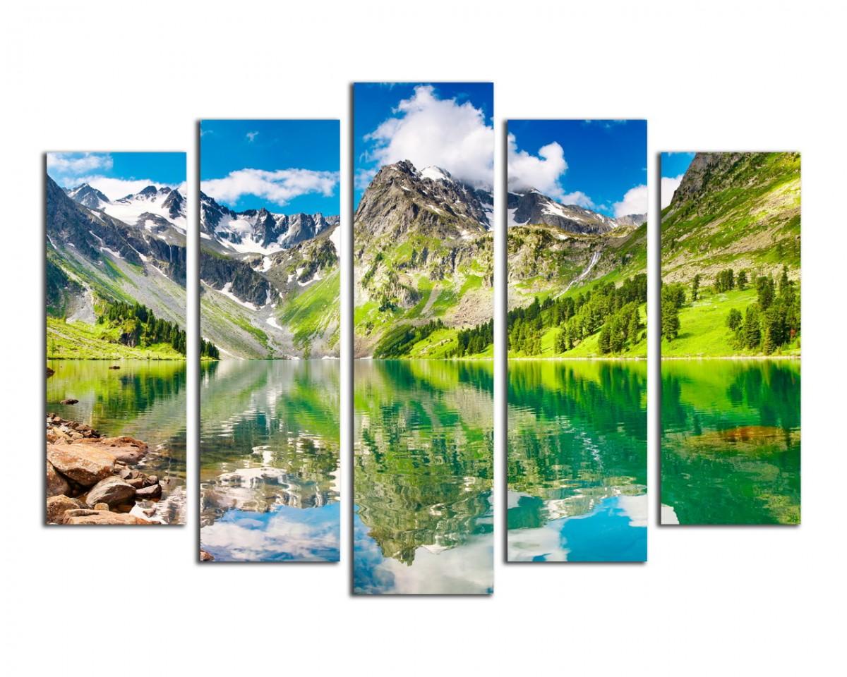 Озеро средь гор