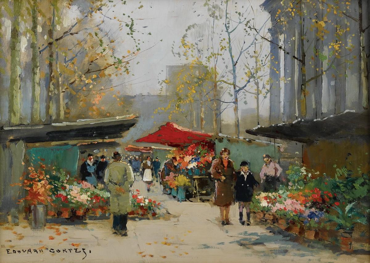 Цветочный рынок у церкви Мадлен