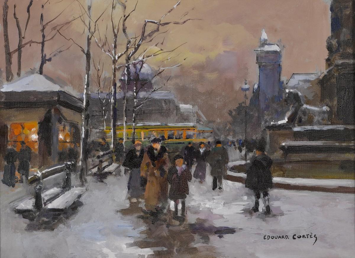 Площадь Шатле зимой