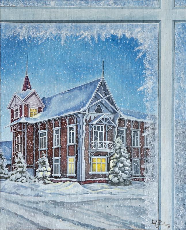 Зимний Томск из окна