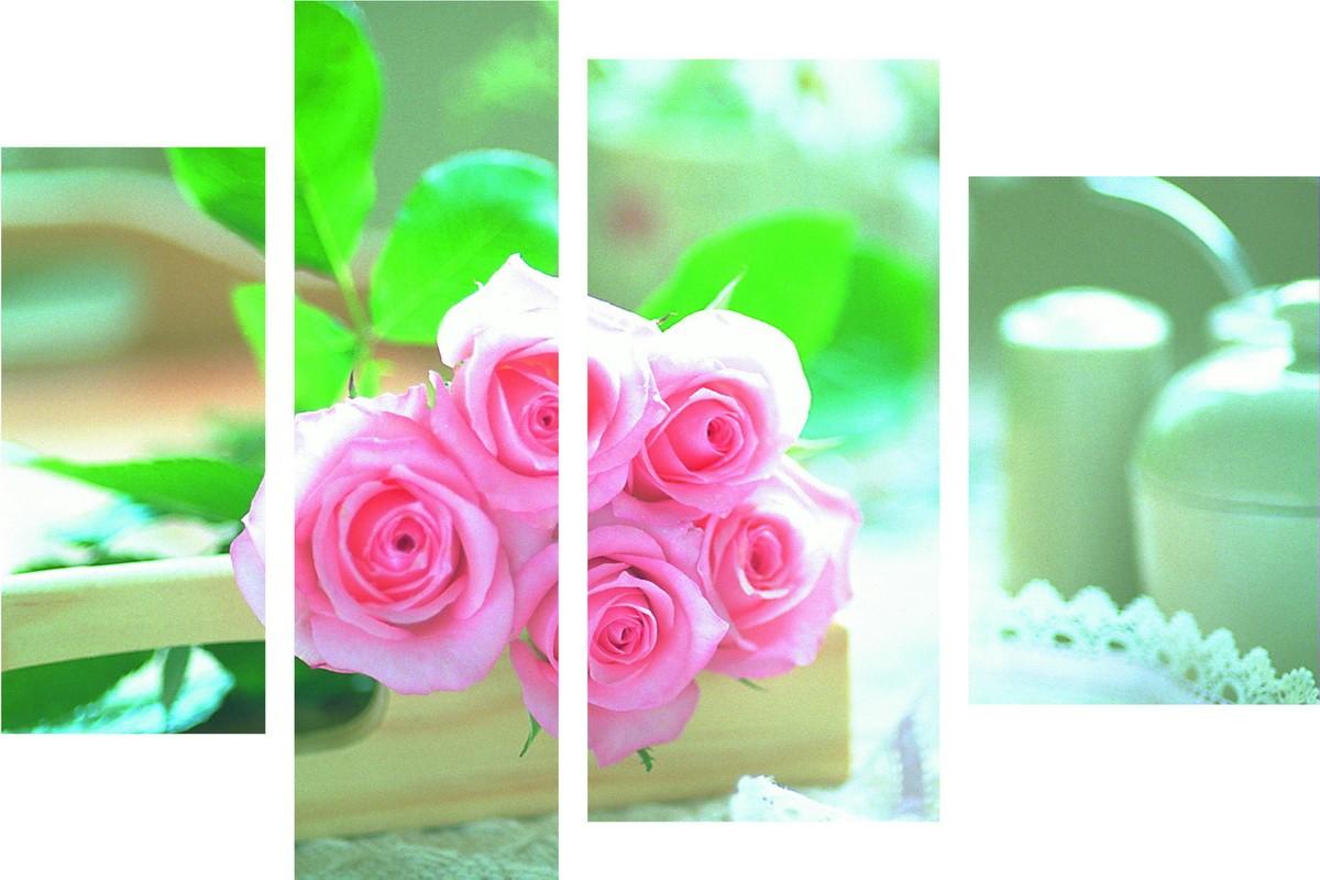 Розы на подносе
