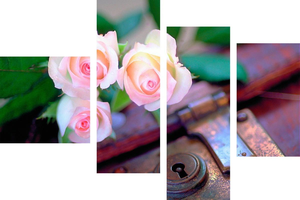 Розы на старом чемодане