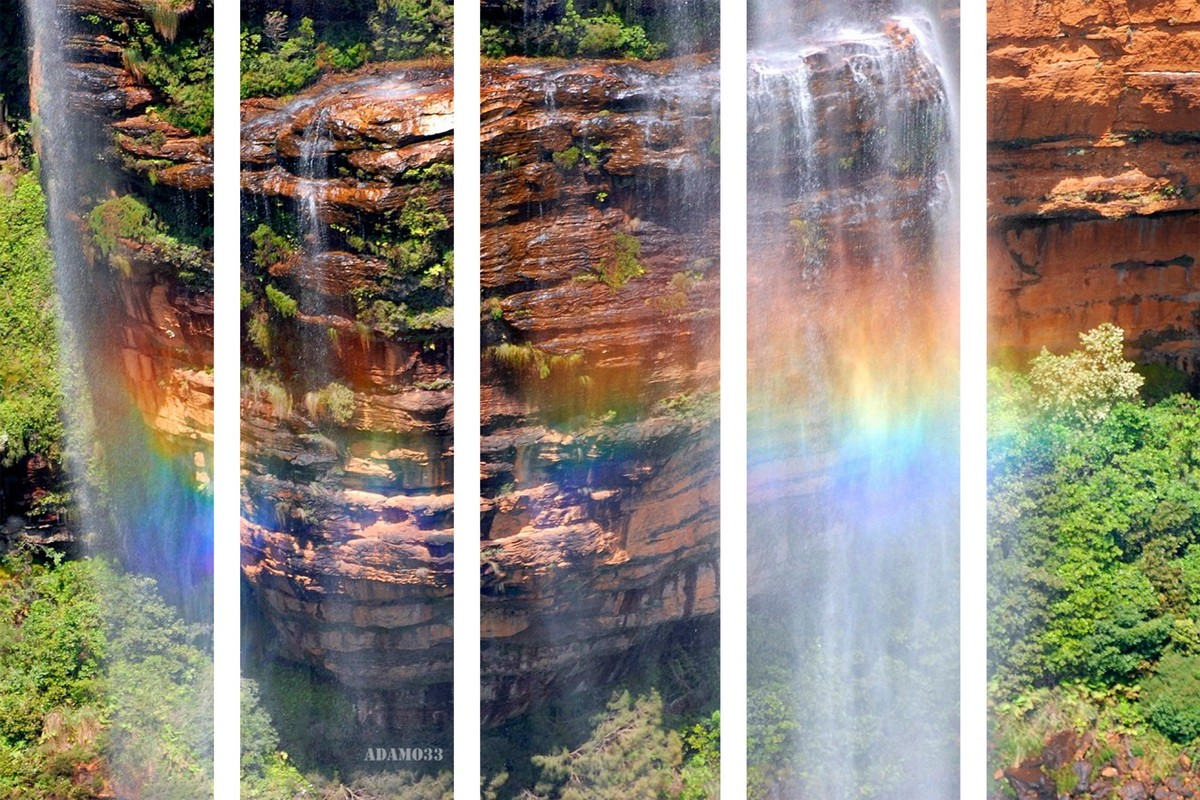 Радуга в водопаде