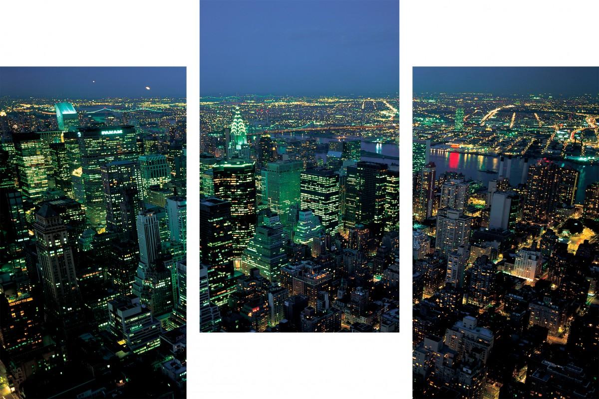 Ночной город, вид с небоскреба