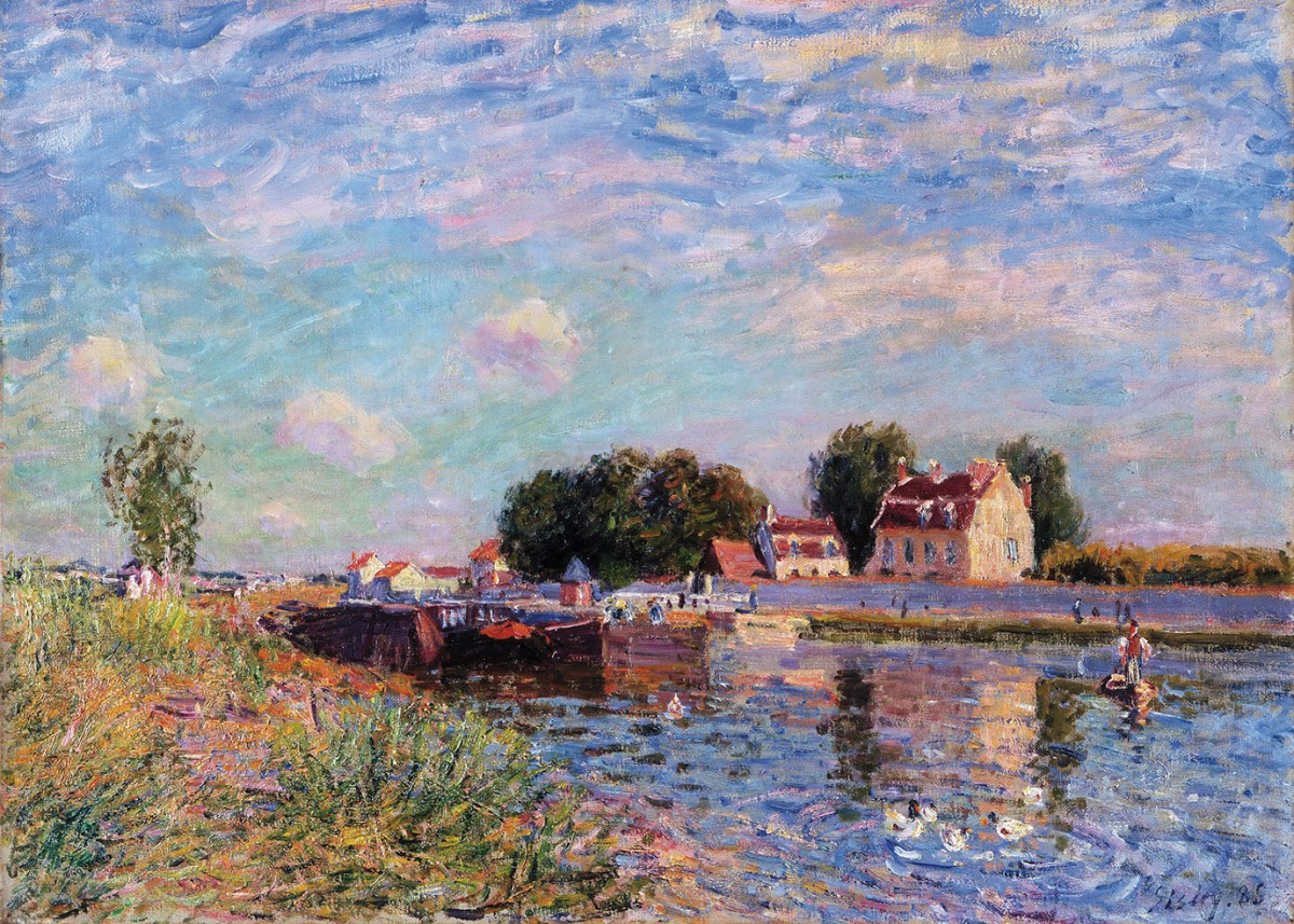 Канал Луа в Сен-Мамме
