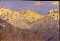 Гималаи. Главная вершина. Этюд. Из индийской серии